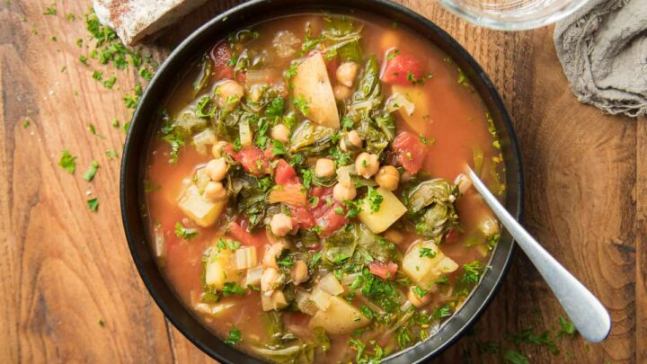 Cozy Swiss Chard Soup with Potatoes